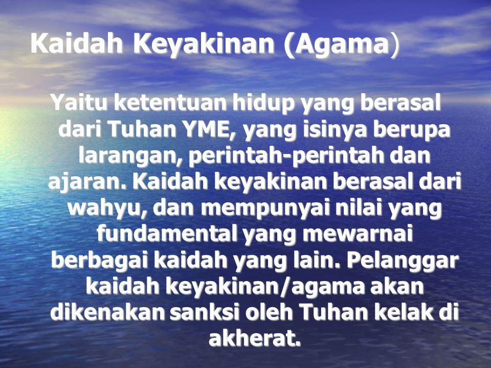 Kaidah Keyakinan (Agama)