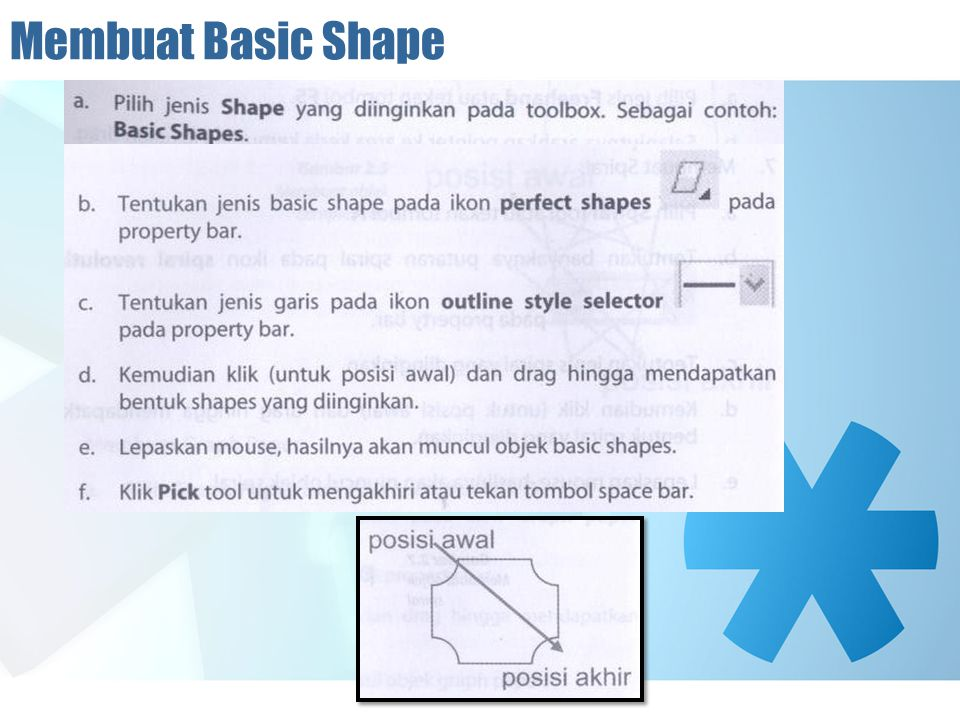 Membuat Basic Shape