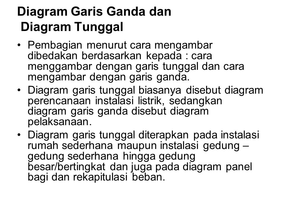 Diagram Garis Ganda dan Diagram Tunggal