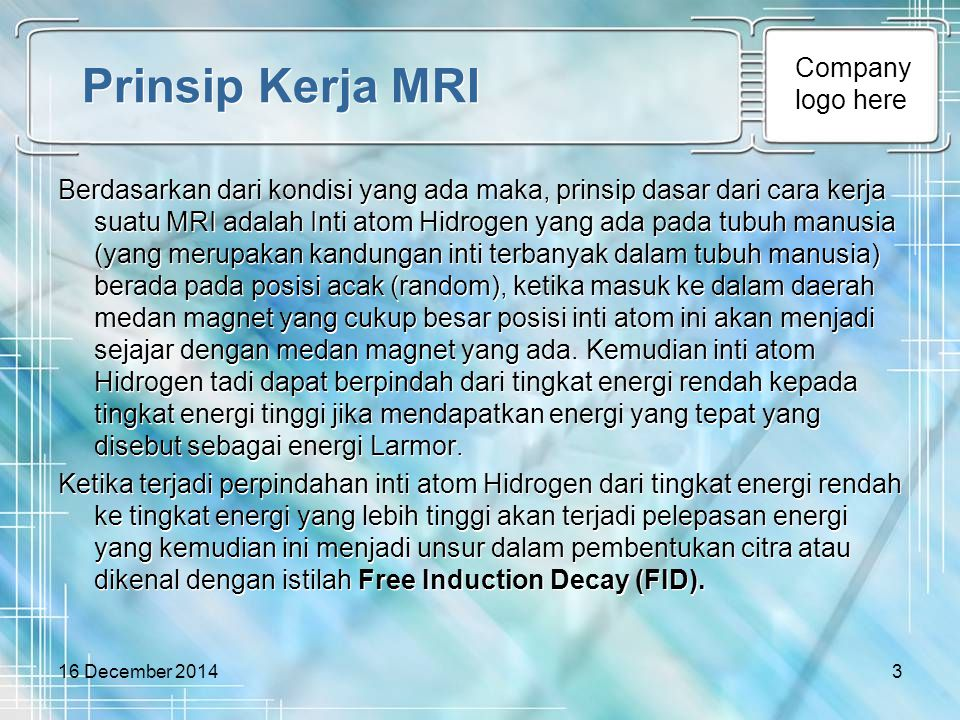 Prinsip Kerja MRI