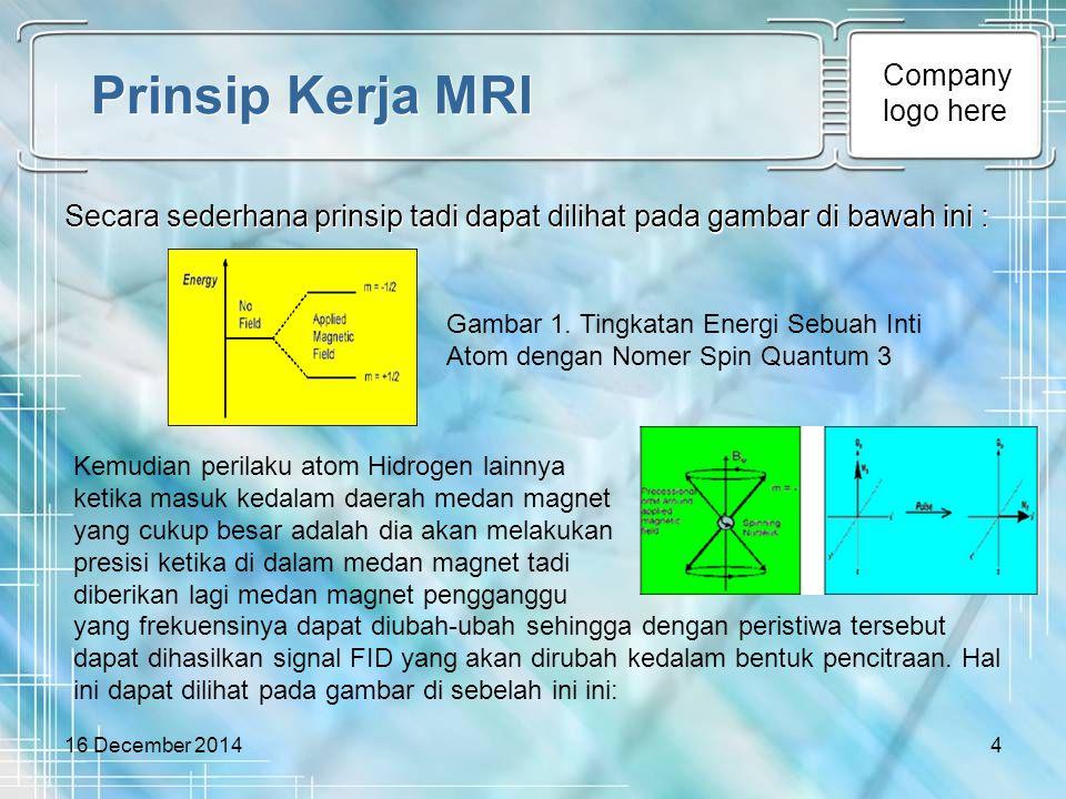 Prinsip Kerja MRI Secara sederhana prinsip tadi dapat dilihat pada gambar di bawah ini :