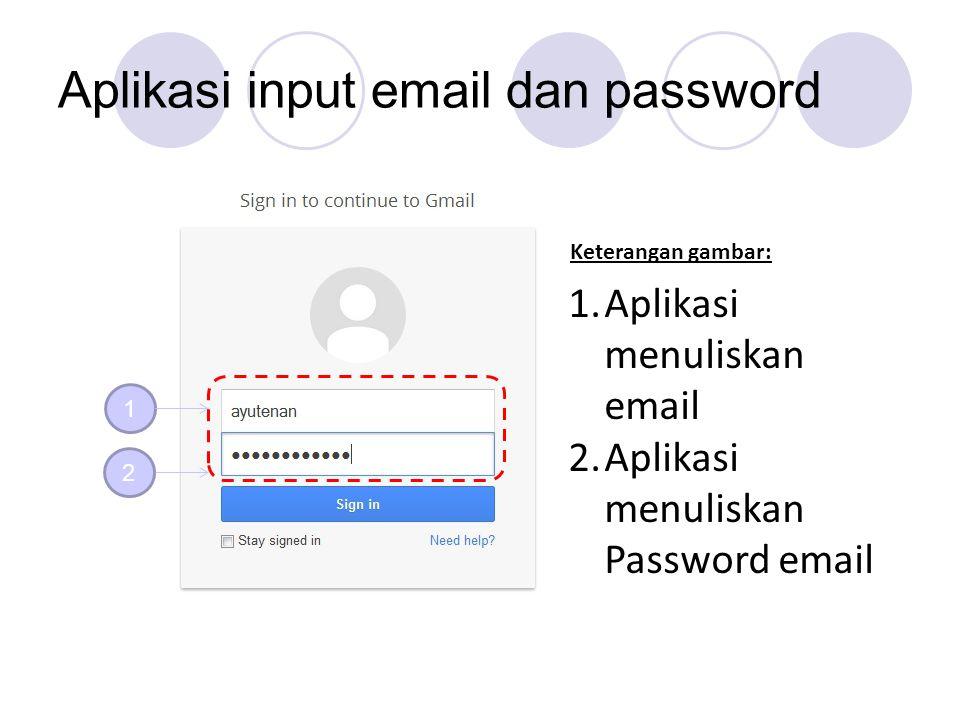 Aplikasi input email dan password