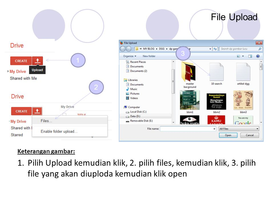 File Upload 3. 1. 2. Keterangan gambar: