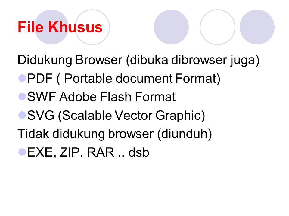 File Khusus Didukung Browser (dibuka dibrowser juga)