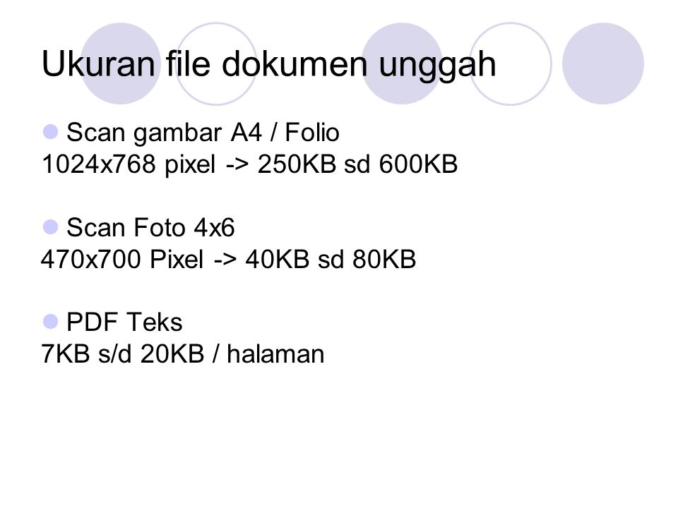 Ukuran file dokumen unggah