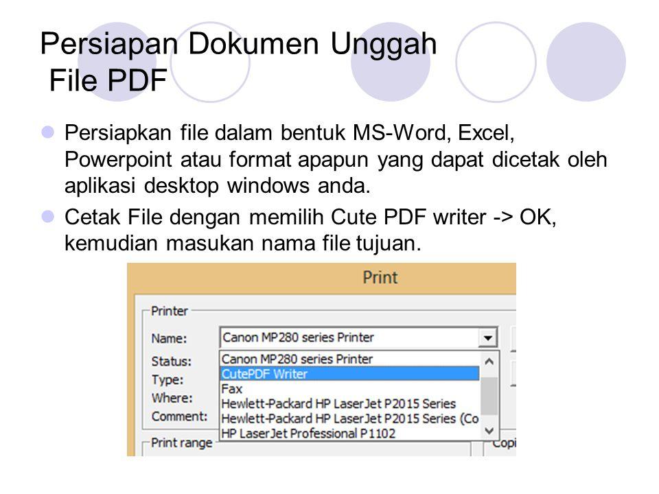 Persiapan Dokumen Unggah File PDF