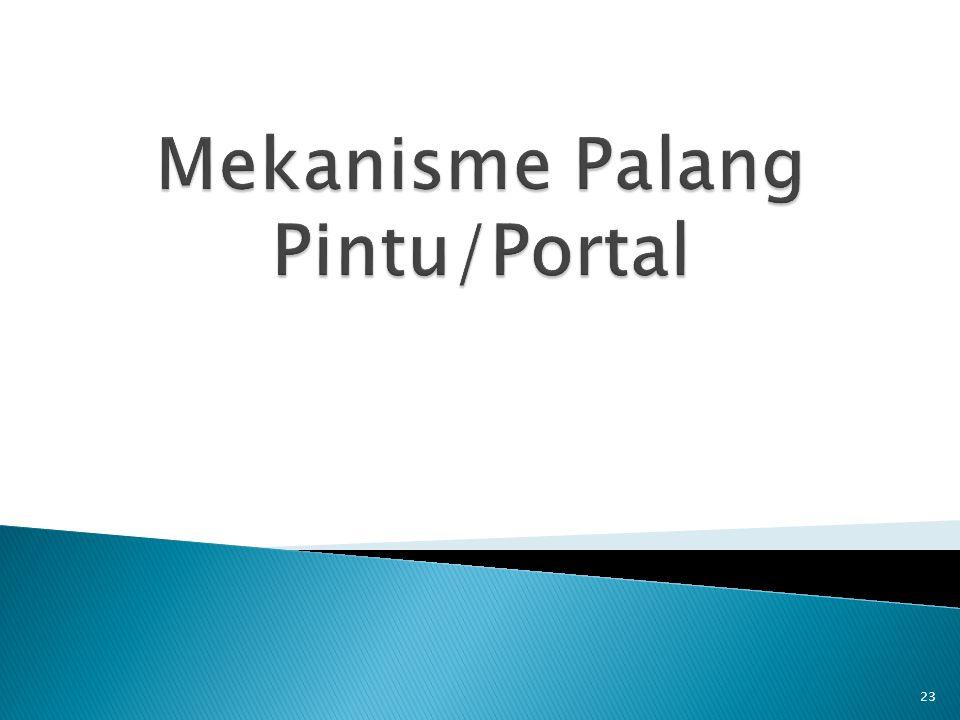 Mekanisme Palang Pintu/Portal