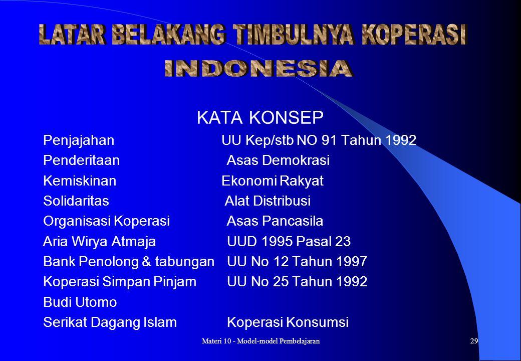 KATA KONSEP Penjajahan UU Kep/stb NO 91 Tahun 1992