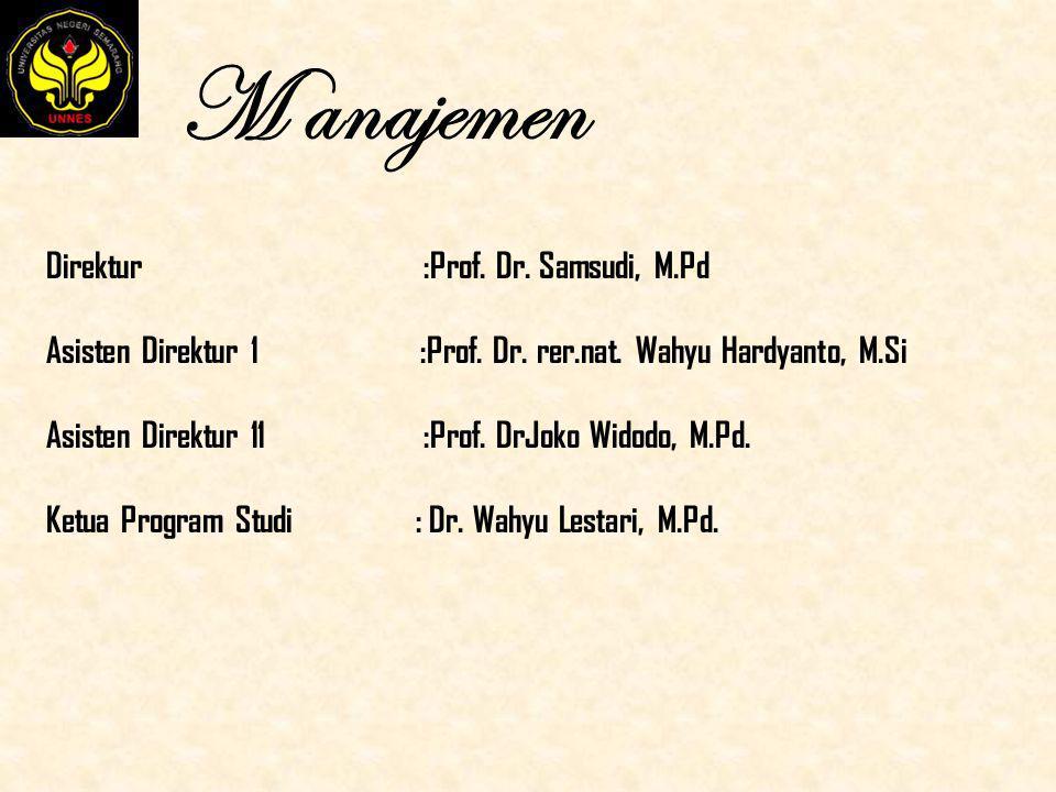 M anajemen Direktur :Prof. Dr. Samsudi, M.Pd