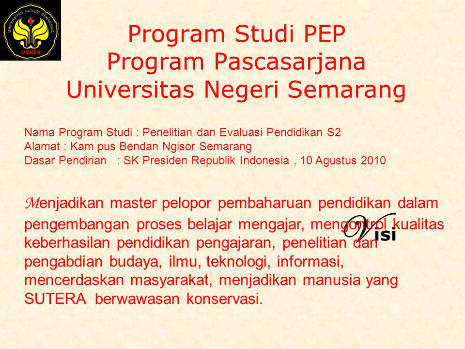 Program Studi PEP Program Pascasarjana Universitas Negeri Semarang