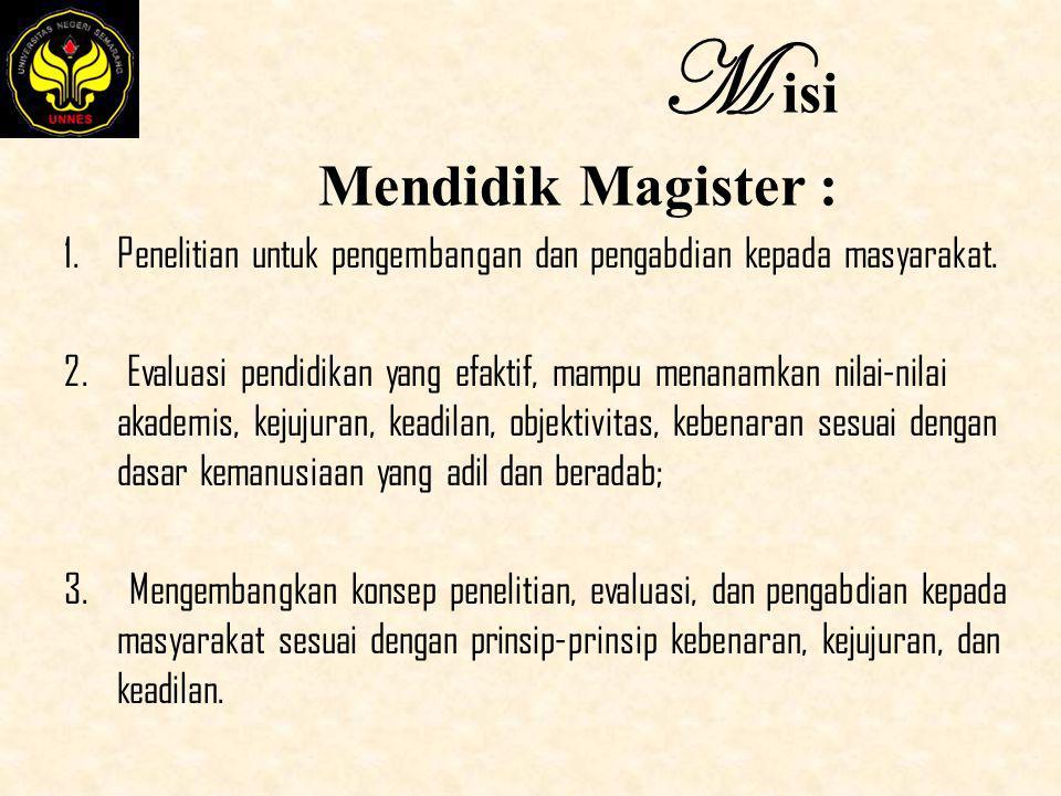 M isi Mendidik Magister :