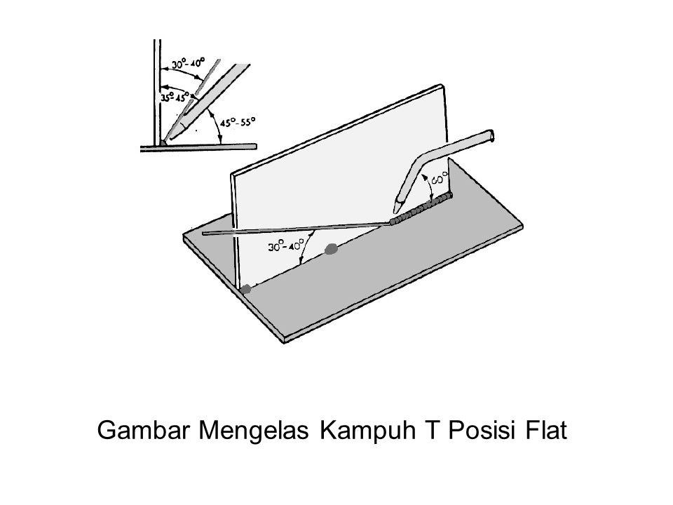 Gambar Mengelas Kampuh T Posisi Flat