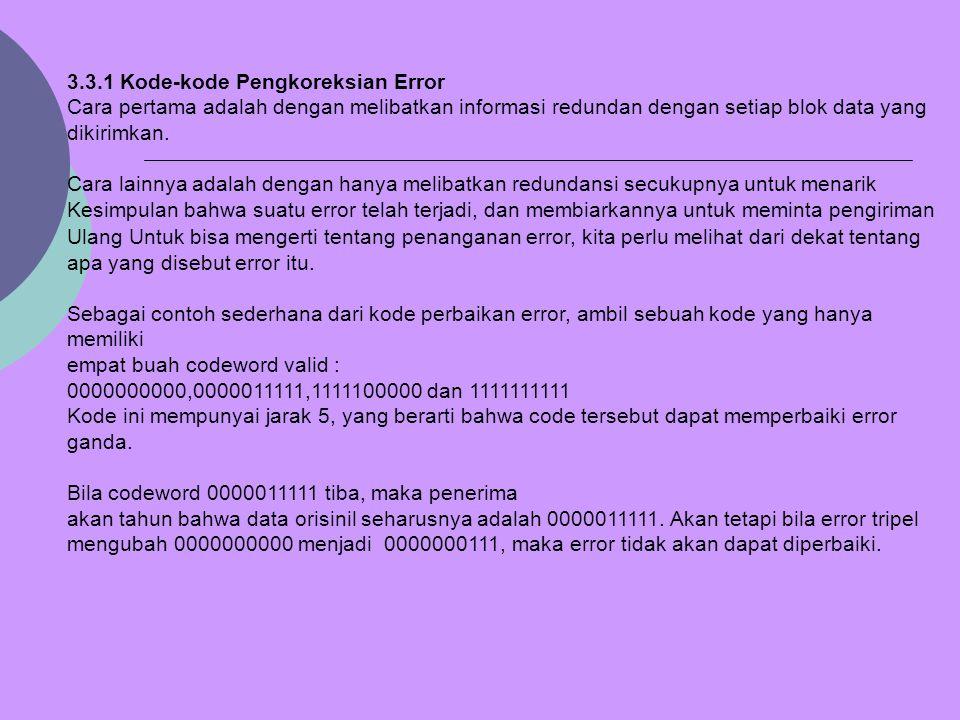 3.3.1 Kode-kode Pengkoreksian Error