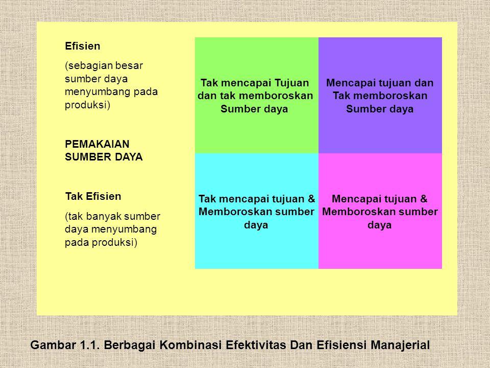 Gambar 1.1. Berbagai Kombinasi Efektivitas Dan Efisiensi Manajerial