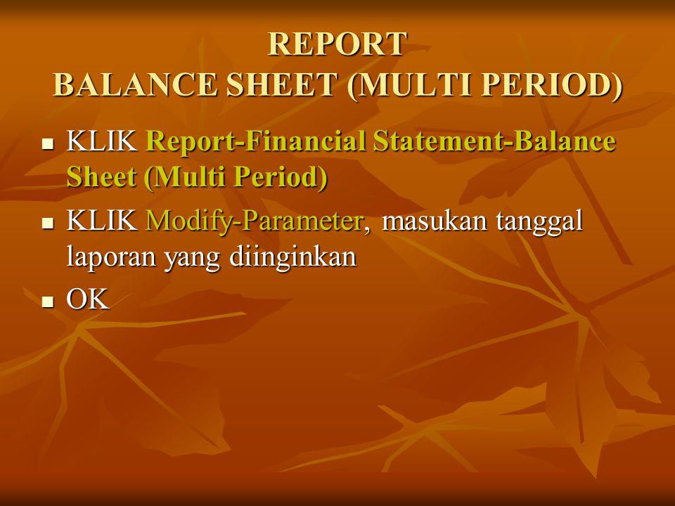 REPORT BALANCE SHEET (MULTI PERIOD)