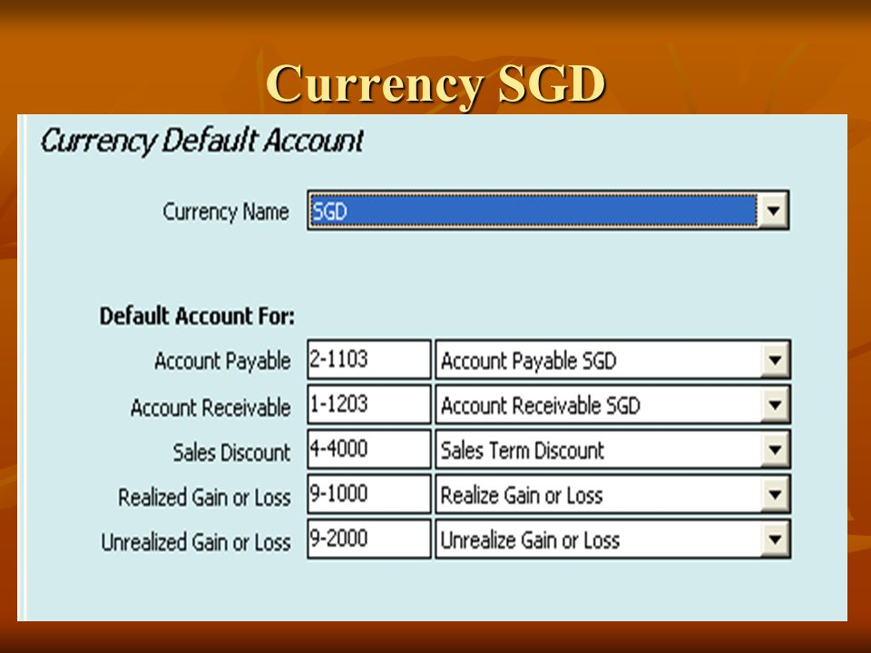 Currency SGD