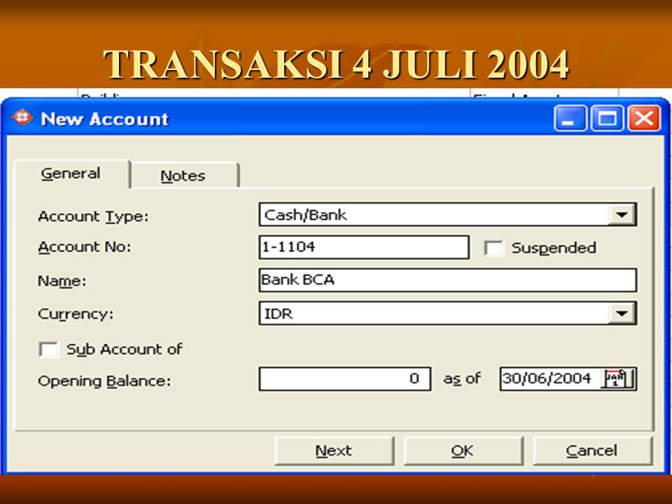 TRANSAKSI 4 JULI 2004