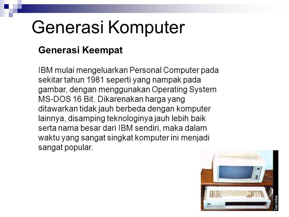 Generasi Komputer Generasi Keempat
