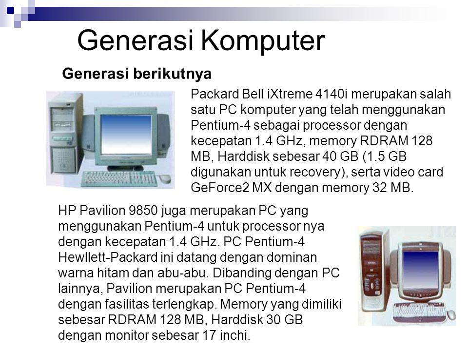 Generasi Komputer Generasi berikutnya