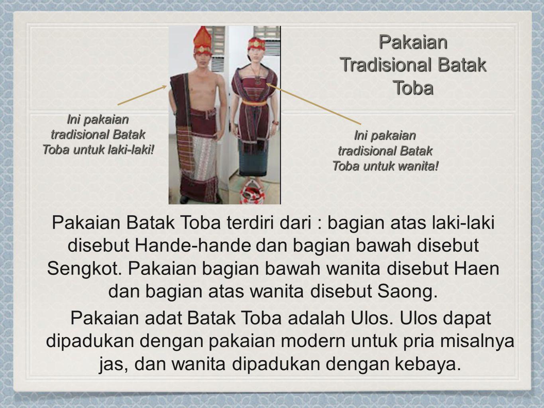 Pakaian Tradisional Batak Toba