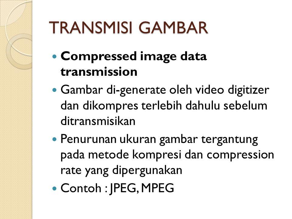 TRANSMISI GAMBAR Compressed image data transmission