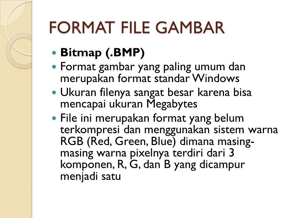 FORMAT FILE GAMBAR Bitmap (.BMP)