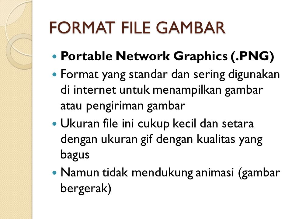 FORMAT FILE GAMBAR Portable Network Graphics (.PNG)