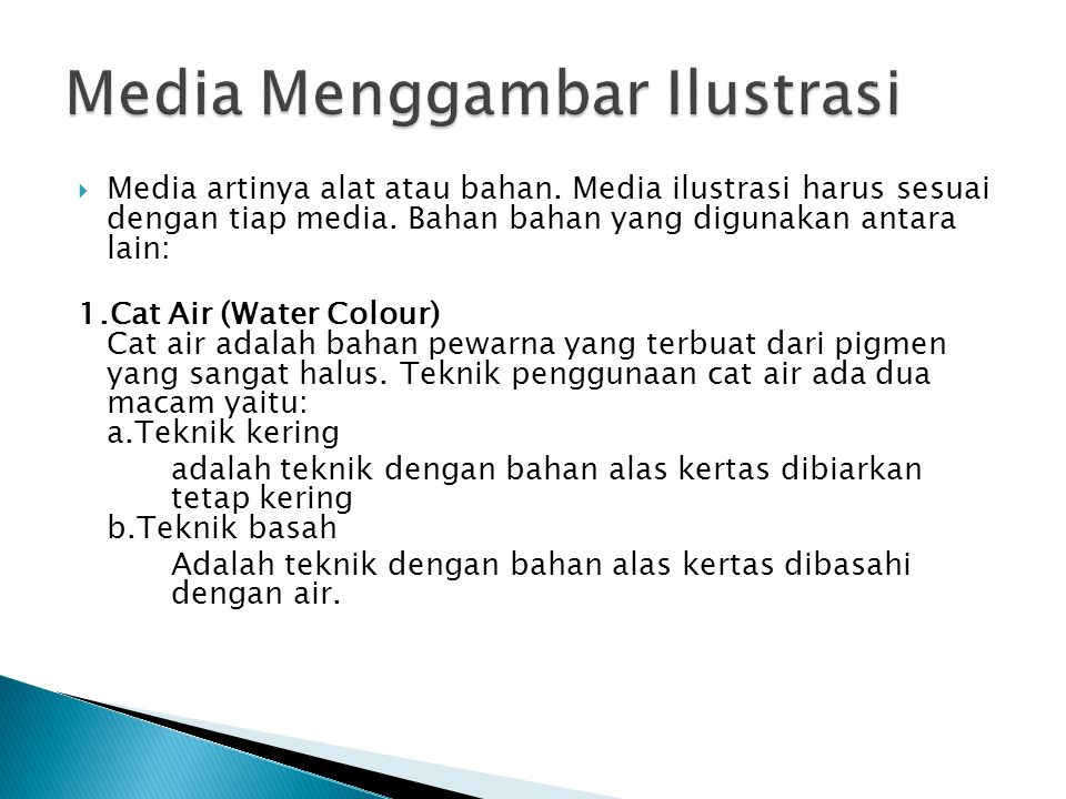 Media Menggambar Ilustrasi