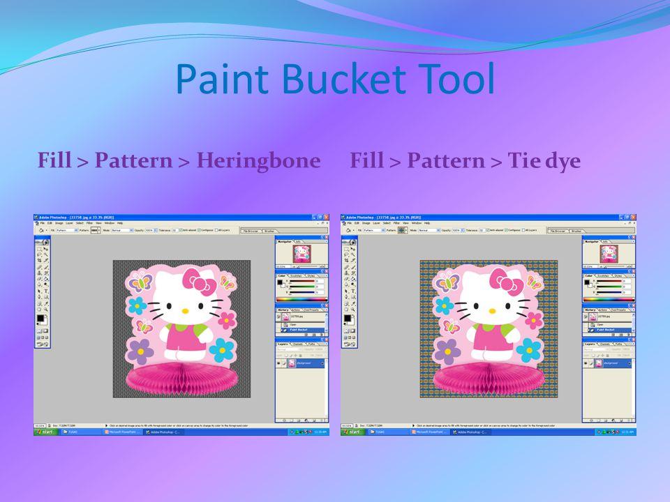 Paint Bucket Tool Fill > Pattern > Heringbone