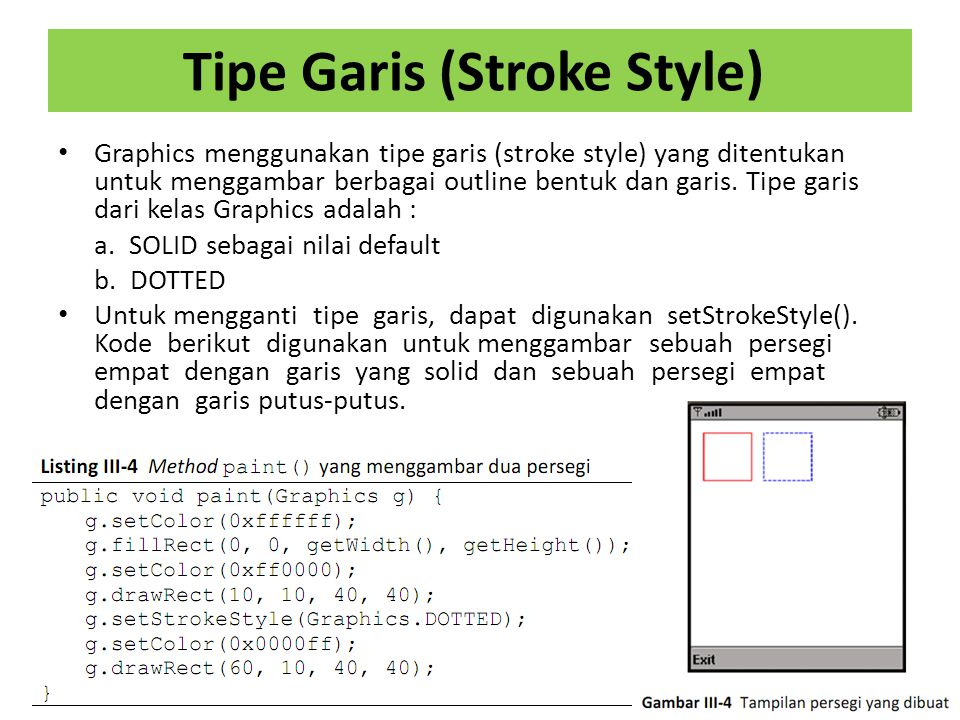 Tipe Garis (Stroke Style)