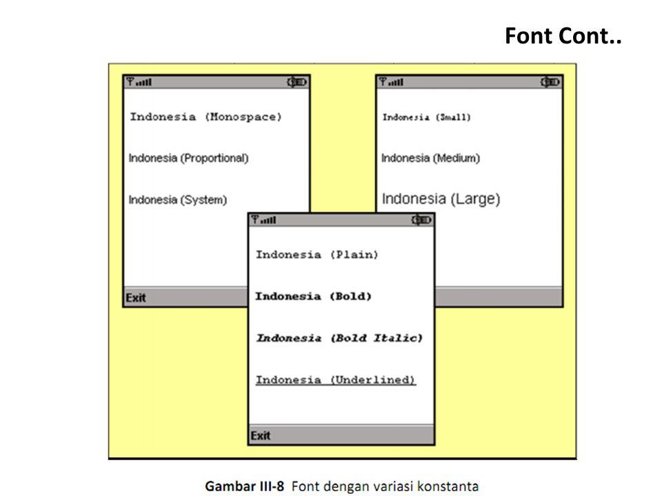 Font Cont..