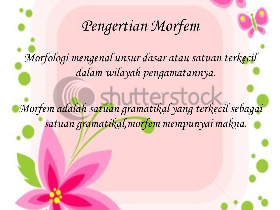 Pengertian Morfem