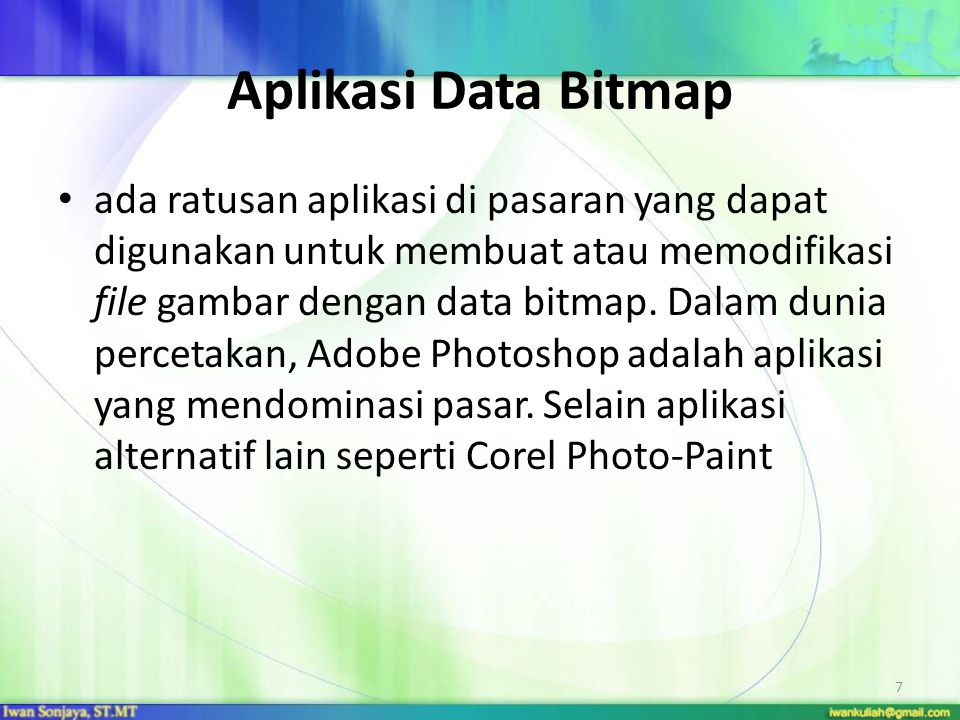 Aplikasi Data Bitmap