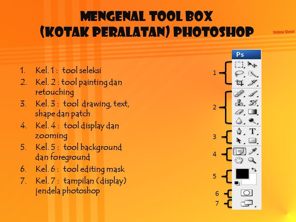 Mengenal Tool Box (kotak peralatan) Photoshop