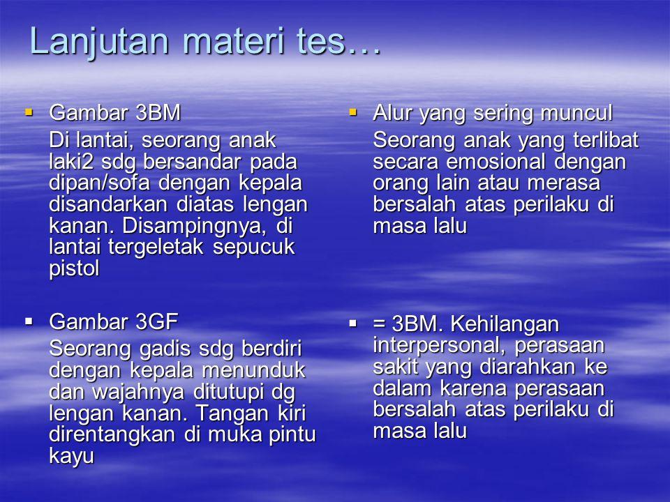 Lanjutan materi tes… Gambar 3BM