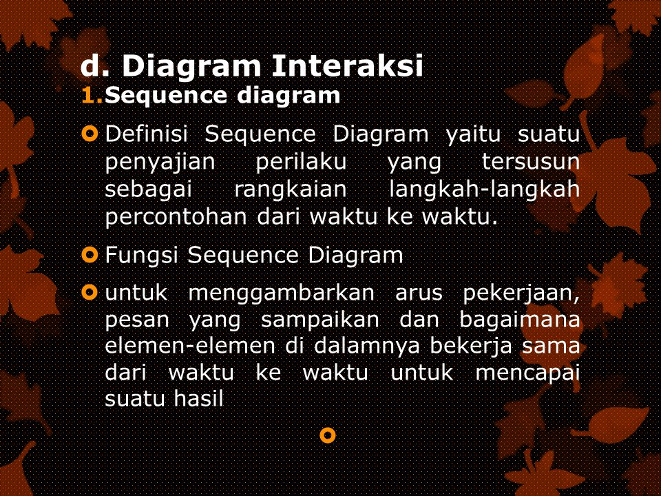 d. Diagram Interaksi Sequence diagram