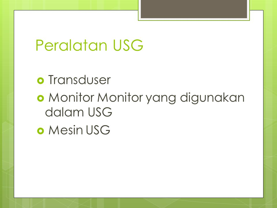 Peralatan USG Transduser Monitor Monitor yang digunakan dalam USG
