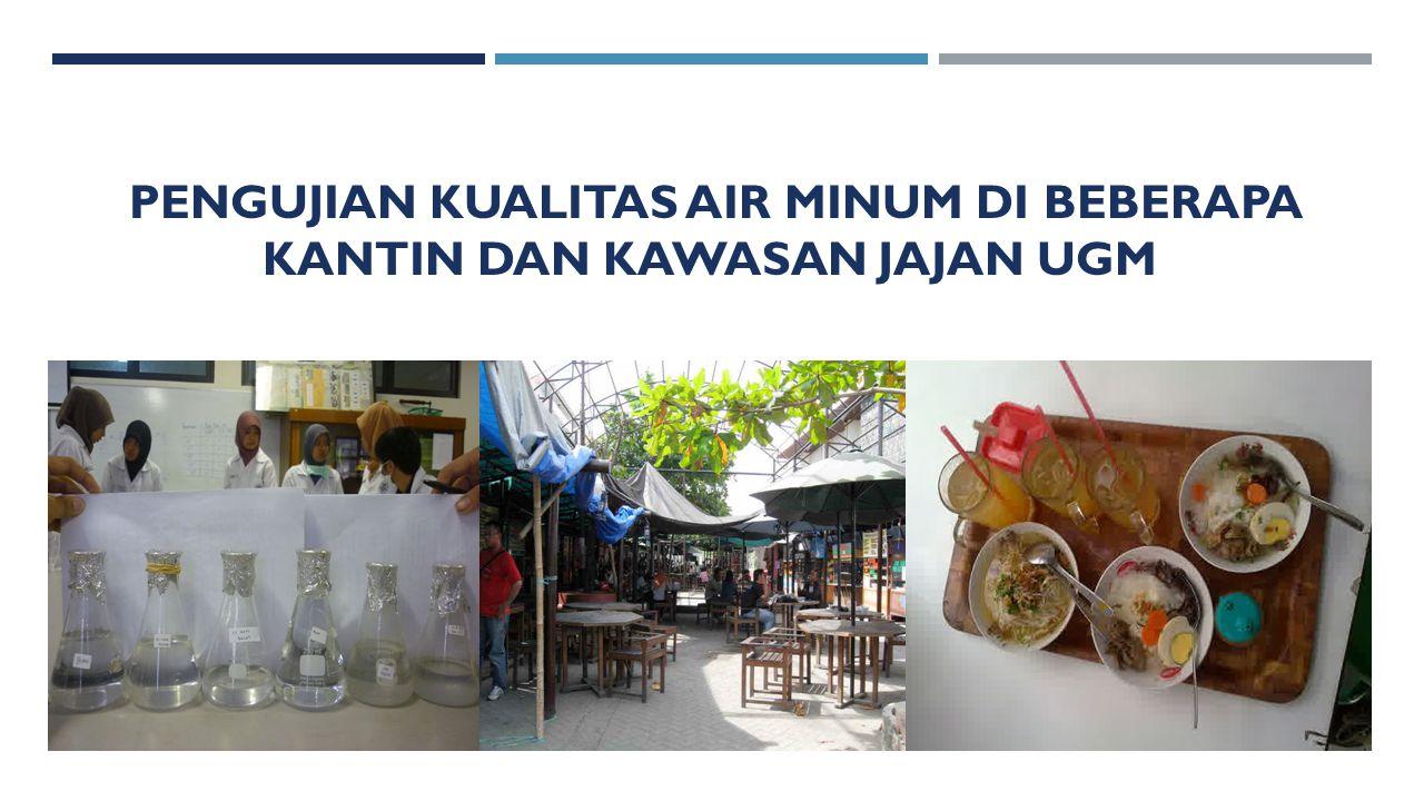 Pengujian kualitas air minum di beberapa kantin dan kawasan jajan ugm