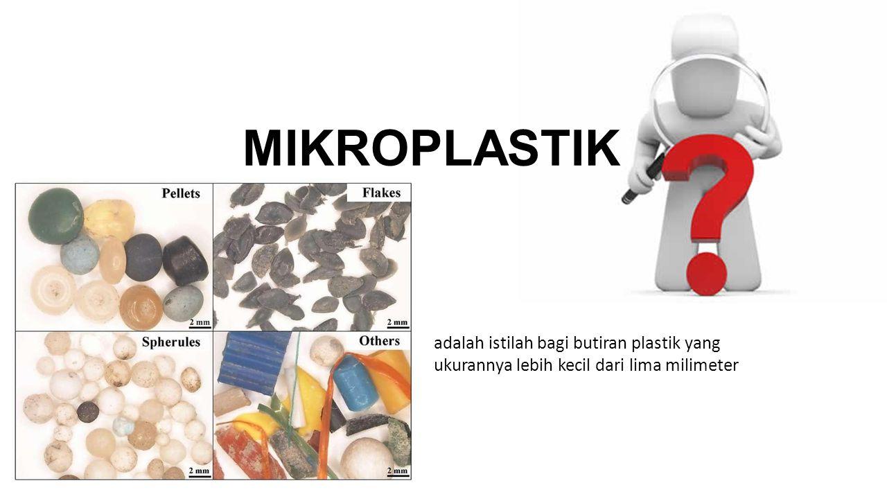 MIKROPLASTIK adalah istilah bagi butiran plastik yang ukurannya lebih kecil dari lima milimeter