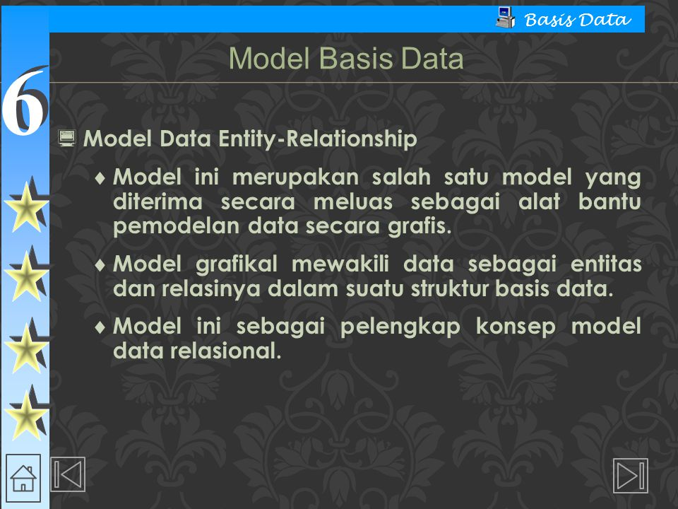 Model Basis Data Model Data Entity-Relationship