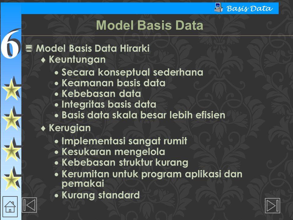 Model Basis Data Model Basis Data Hirarki Keuntungan