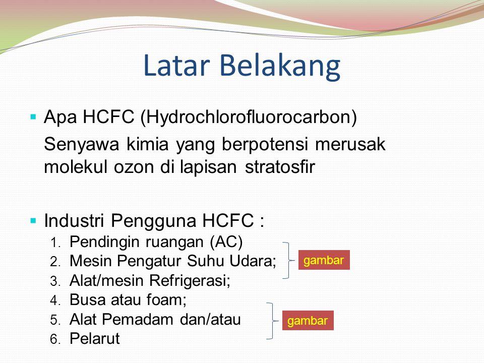 Latar Belakang Apa HCFC (Hydrochlorofluorocarbon)