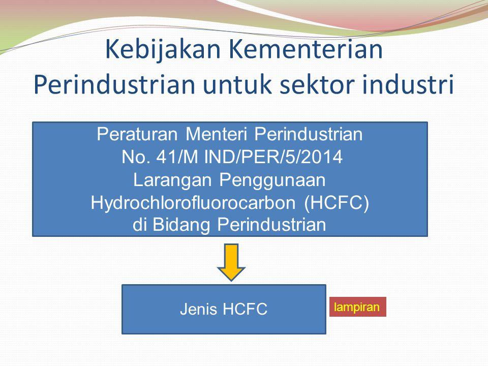Kebijakan Kementerian Perindustrian untuk sektor industri