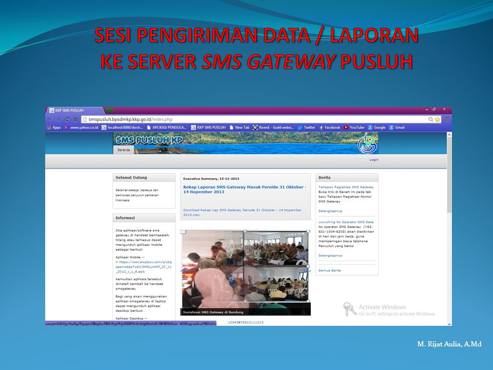 SESI PENGIRIMAN DATA / LAPORAN KE SERVER SMS GATEWAY PUSLUH