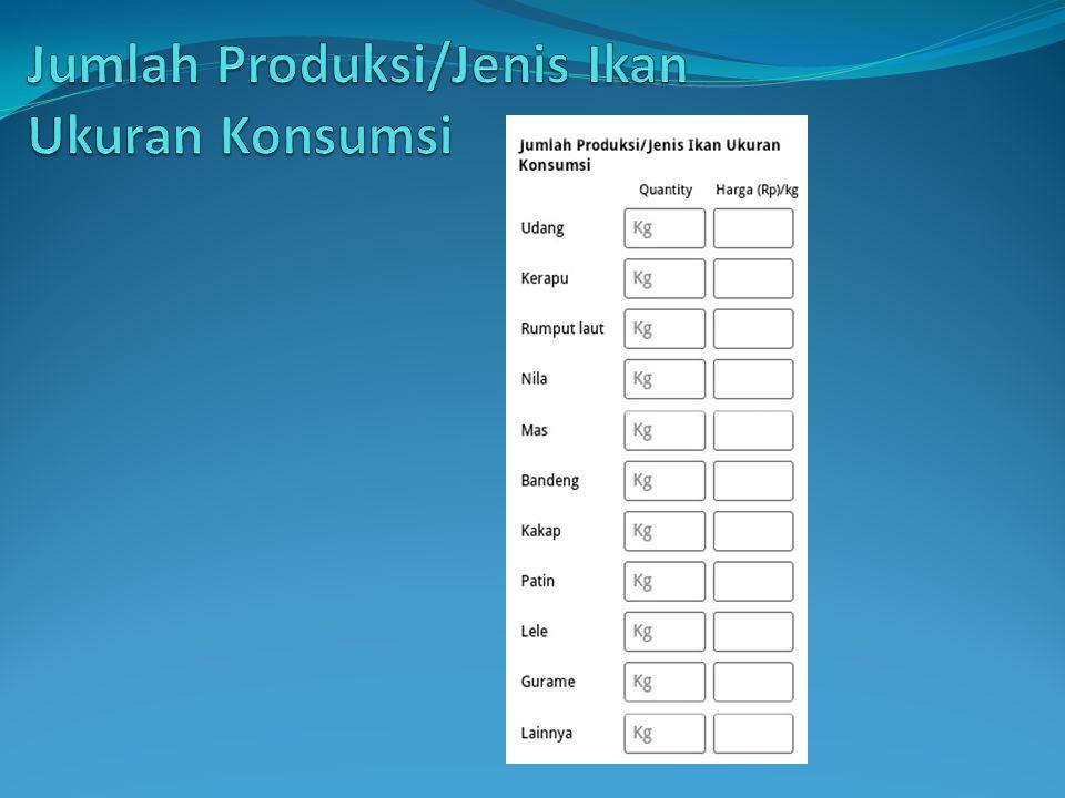 Jumlah Produksi/Jenis Ikan Ukuran Konsumsi