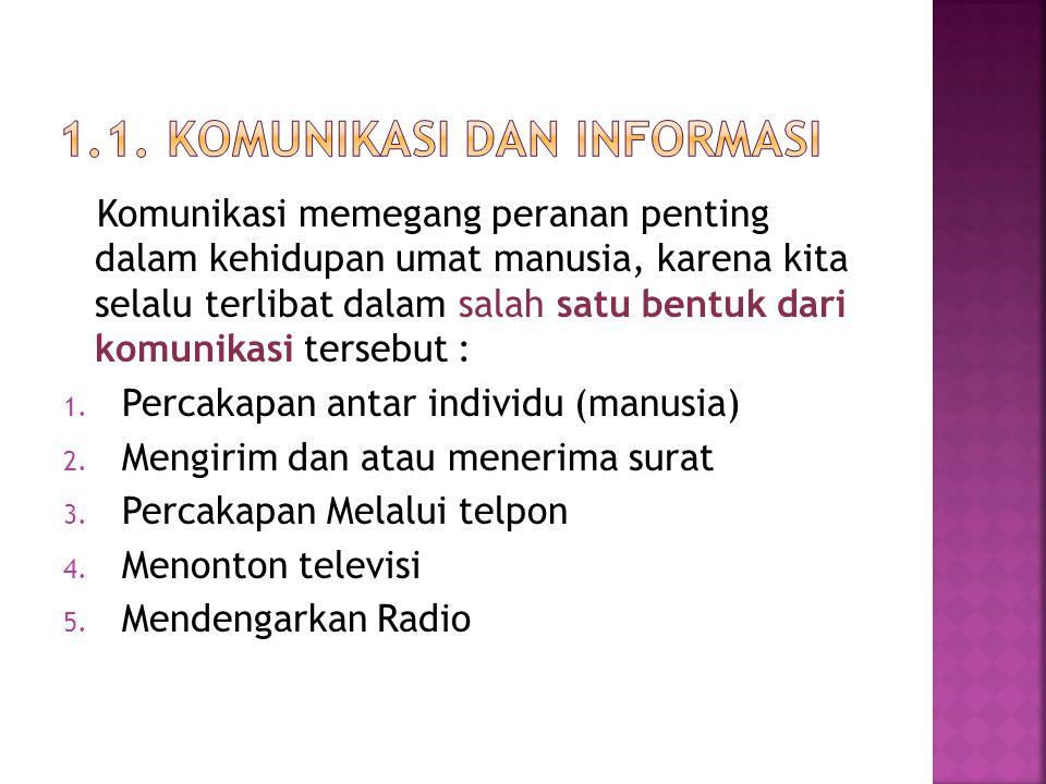 1.1. Komunikasi dan Informasi