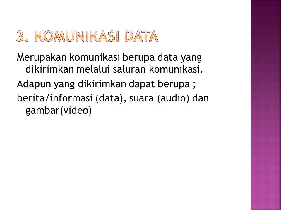 3. Komunikasi Data