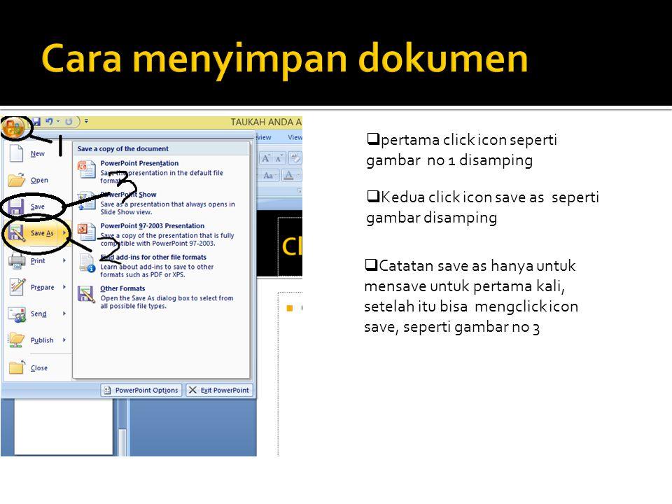 Cara menyimpan dokumen