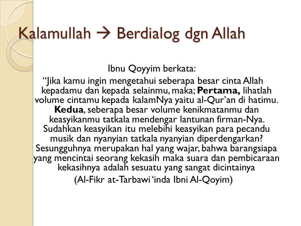 Kalamullah  Berdialog dgn Allah
