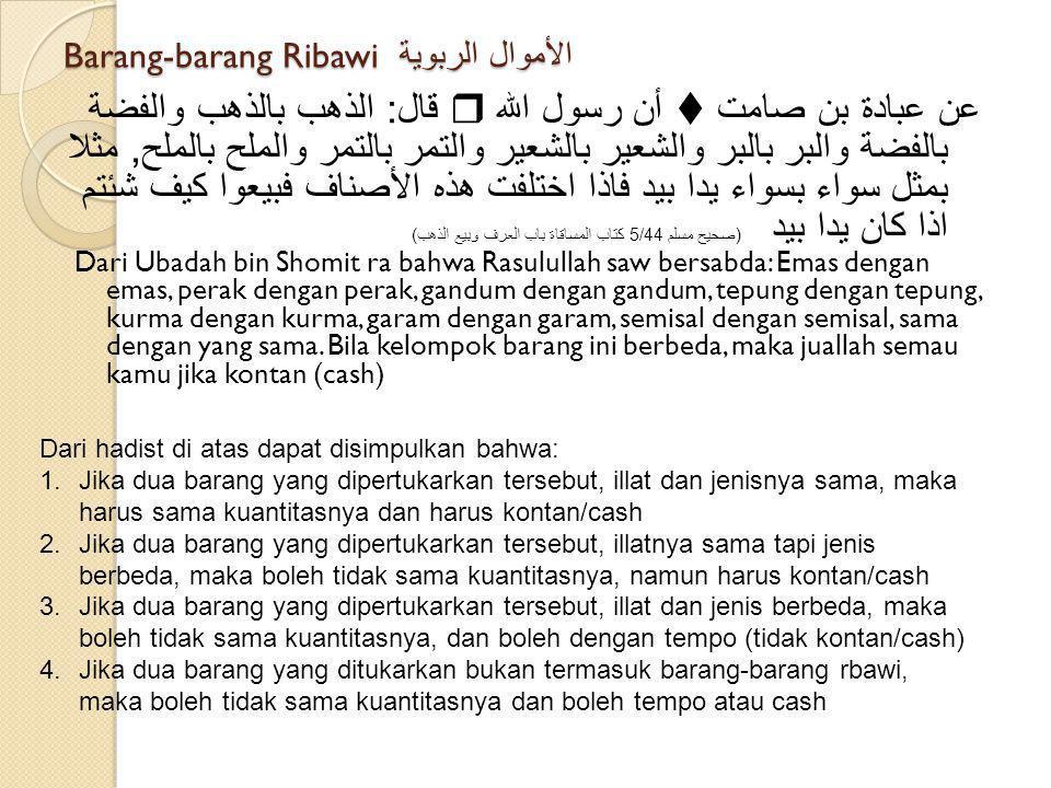 Barang-barang Ribawi الأموال الربوية
